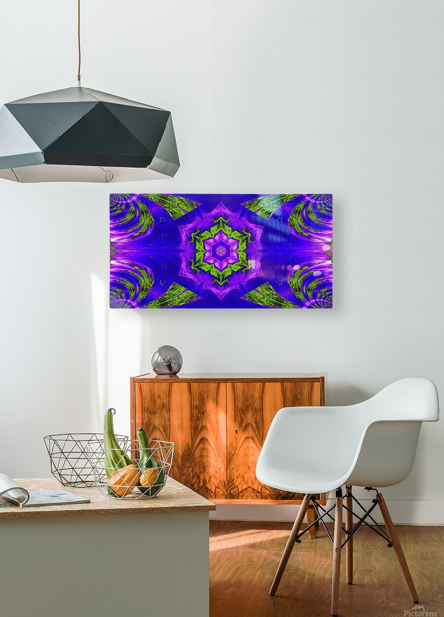 Pink Lotus In Green  HD Metal print with Floating Frame on Back