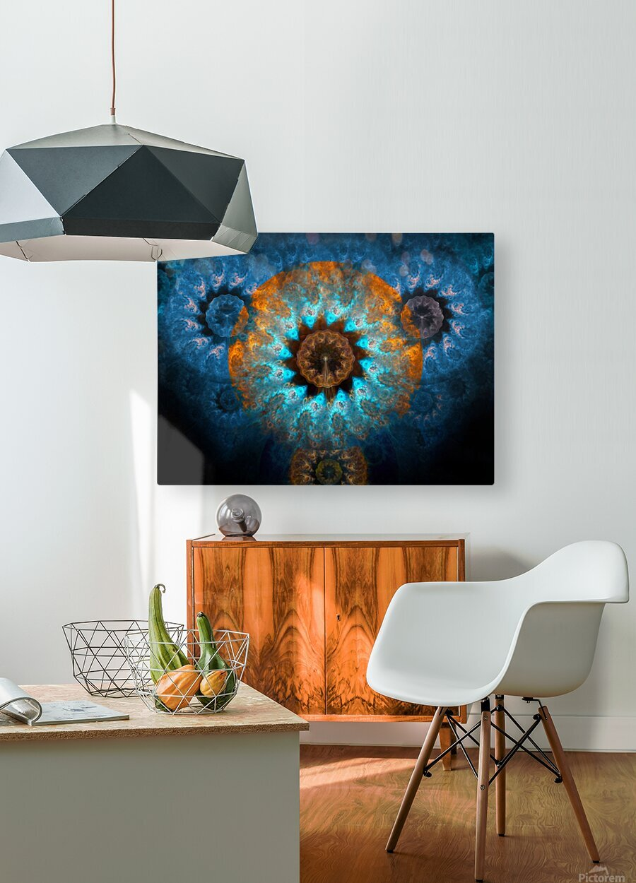 Pendant of winter sun  HD Metal print with Floating Frame on Back