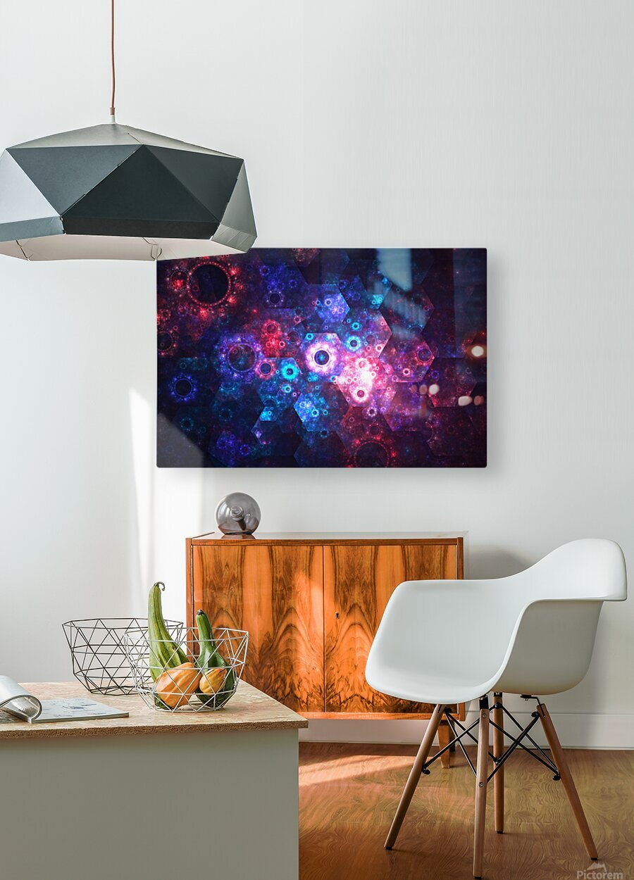 Mechanics  HD Metal print with Floating Frame on Back