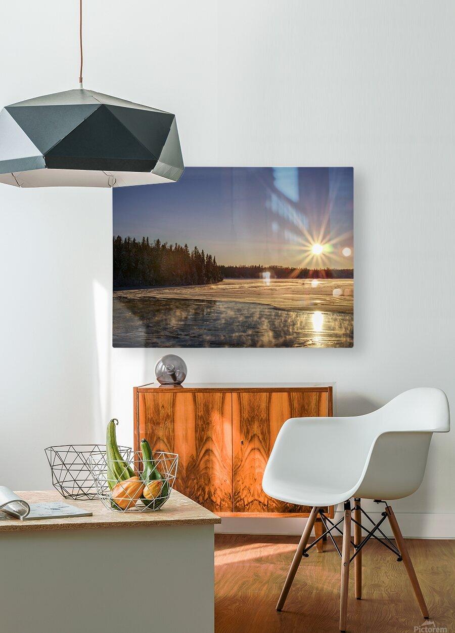 lac Sebastien  HD Metal print with Floating Frame on Back