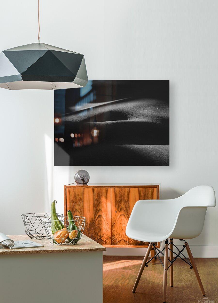 ombres dans la neige  HD Metal print with Floating Frame on Back