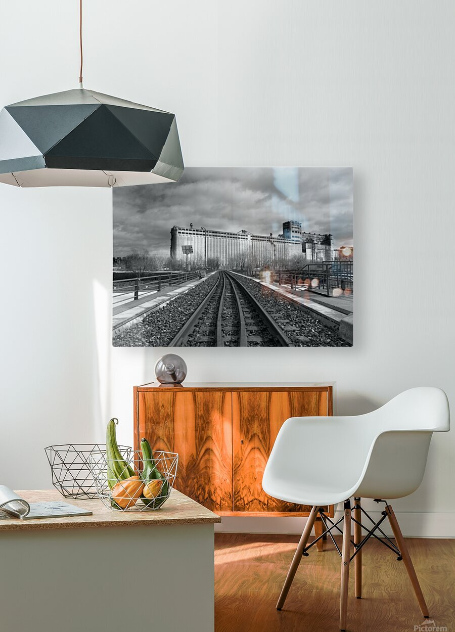 Vieux Montreal  HD Metal print with Floating Frame on Back