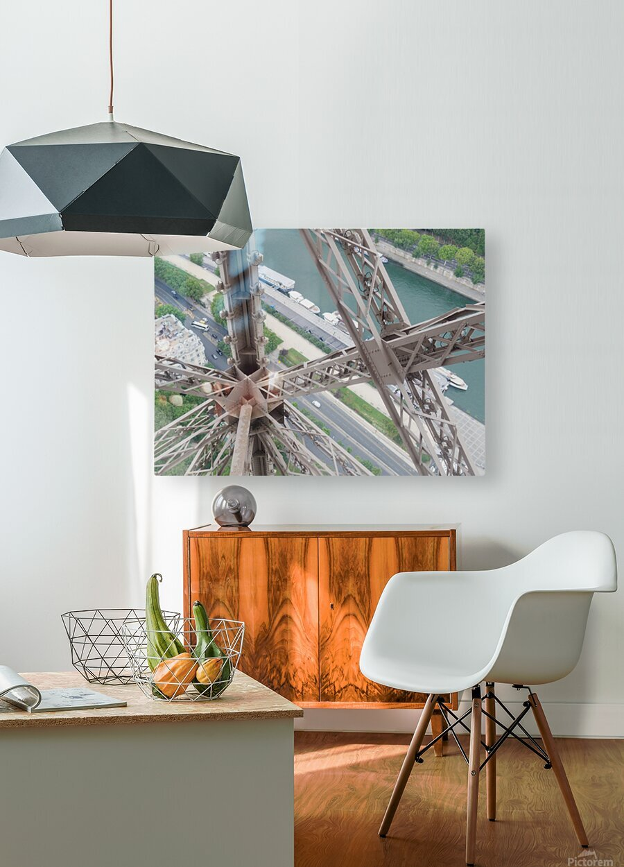 Tour Eiffel  HD Metal print with Floating Frame on Back