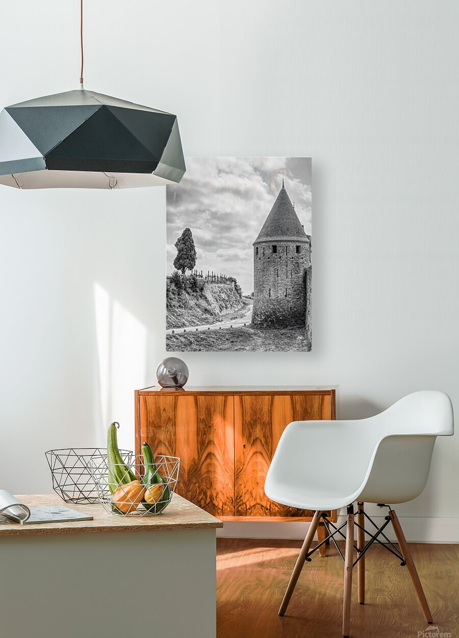 Carcassonne  HD Metal print with Floating Frame on Back