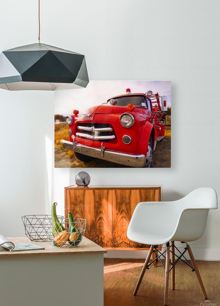 Pompier  HD Metal print with Floating Frame on Back