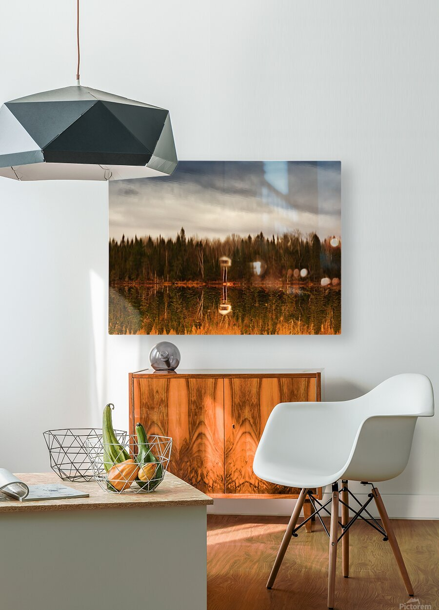 Reflection  HD Metal print with Floating Frame on Back