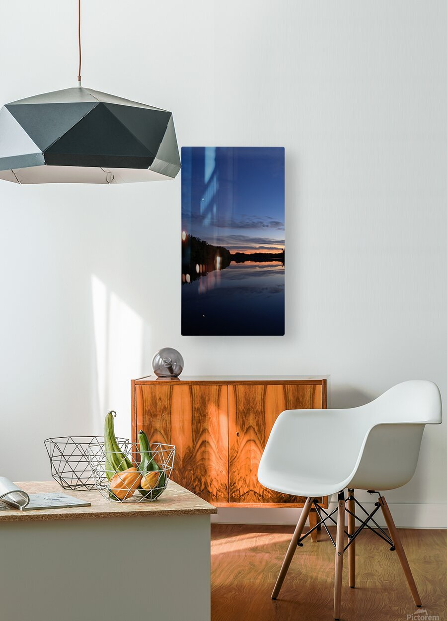 Heure bleue  HD Metal print with Floating Frame on Back