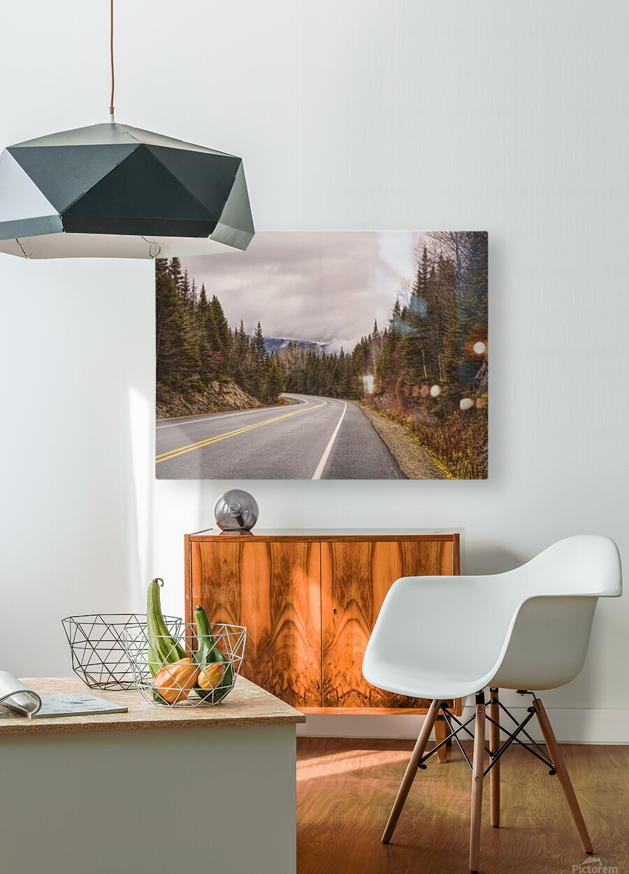 La route  HD Metal print with Floating Frame on Back