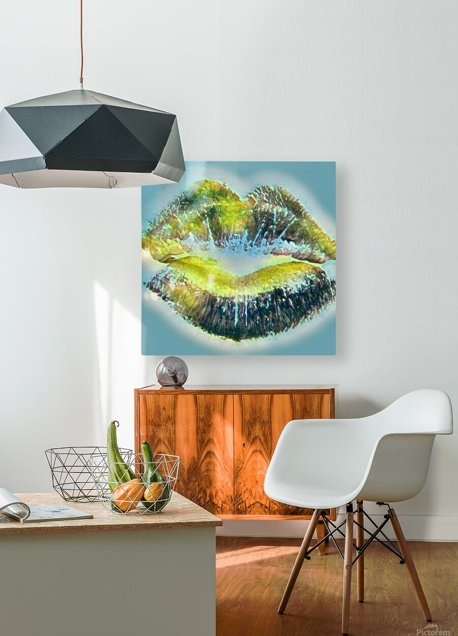 Every Kiss From you Makes My Heart Explode with Love  HD Metal print with Floating Frame on Back