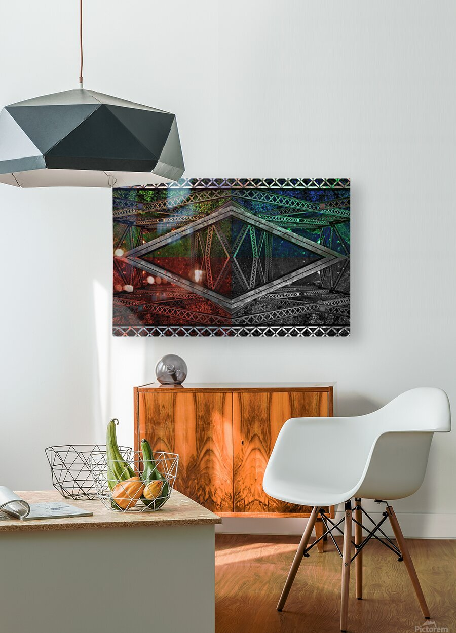 Look out below - You are above it  HD Metal print with Floating Frame on Back