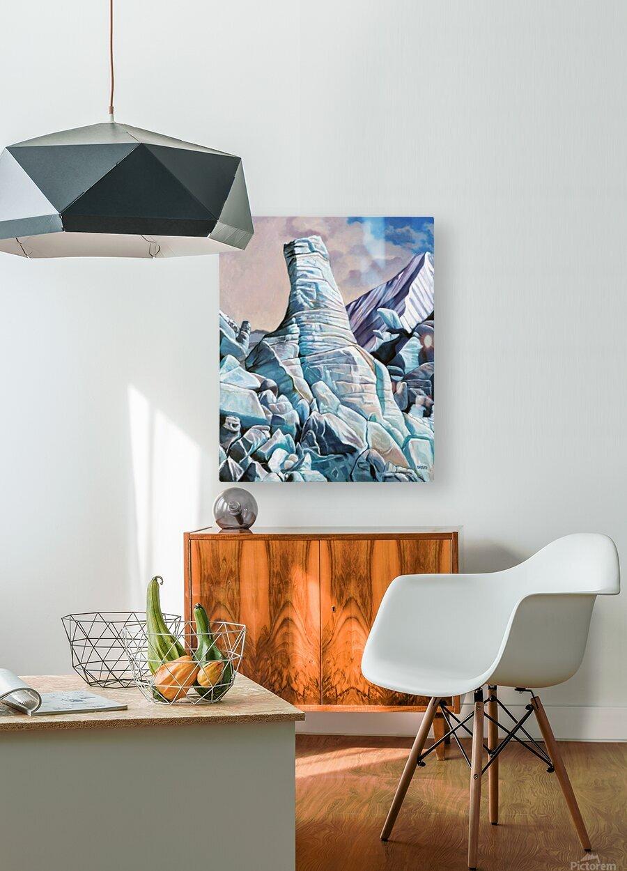 Glacier 3  HD Metal print with Floating Frame on Back