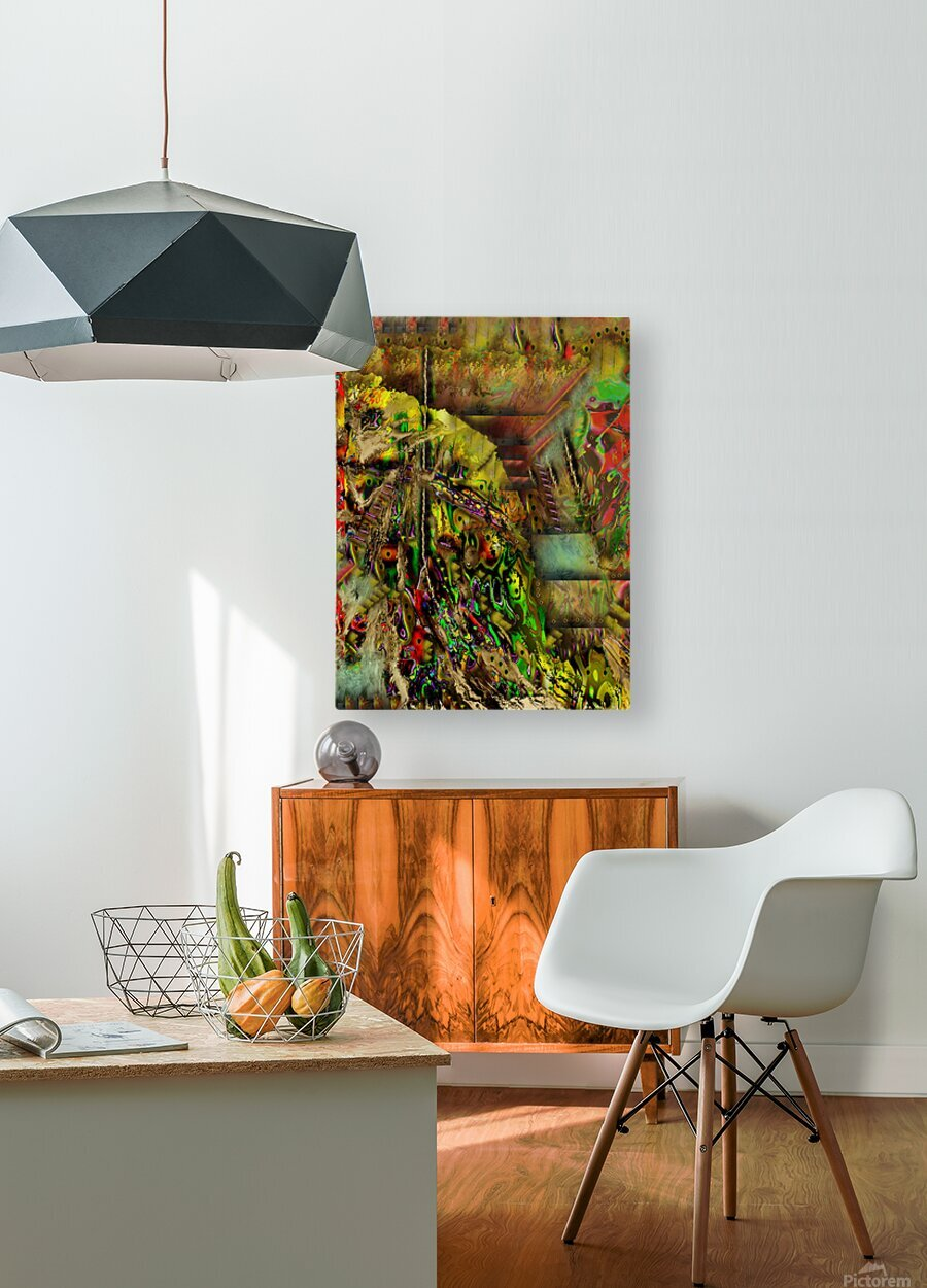 Stash  HD Metal print with Floating Frame on Back