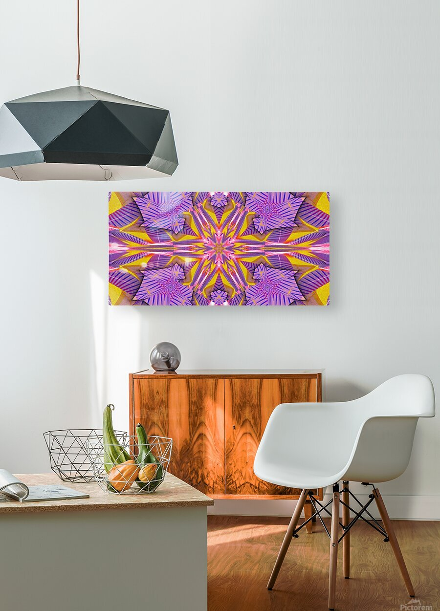 Lotus In The Pink 2  HD Metal print with Floating Frame on Back