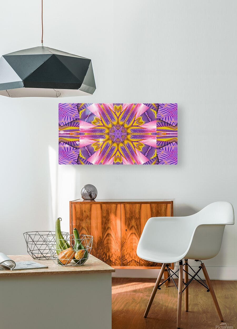 Lotus In The Pink 4  HD Metal print with Floating Frame on Back
