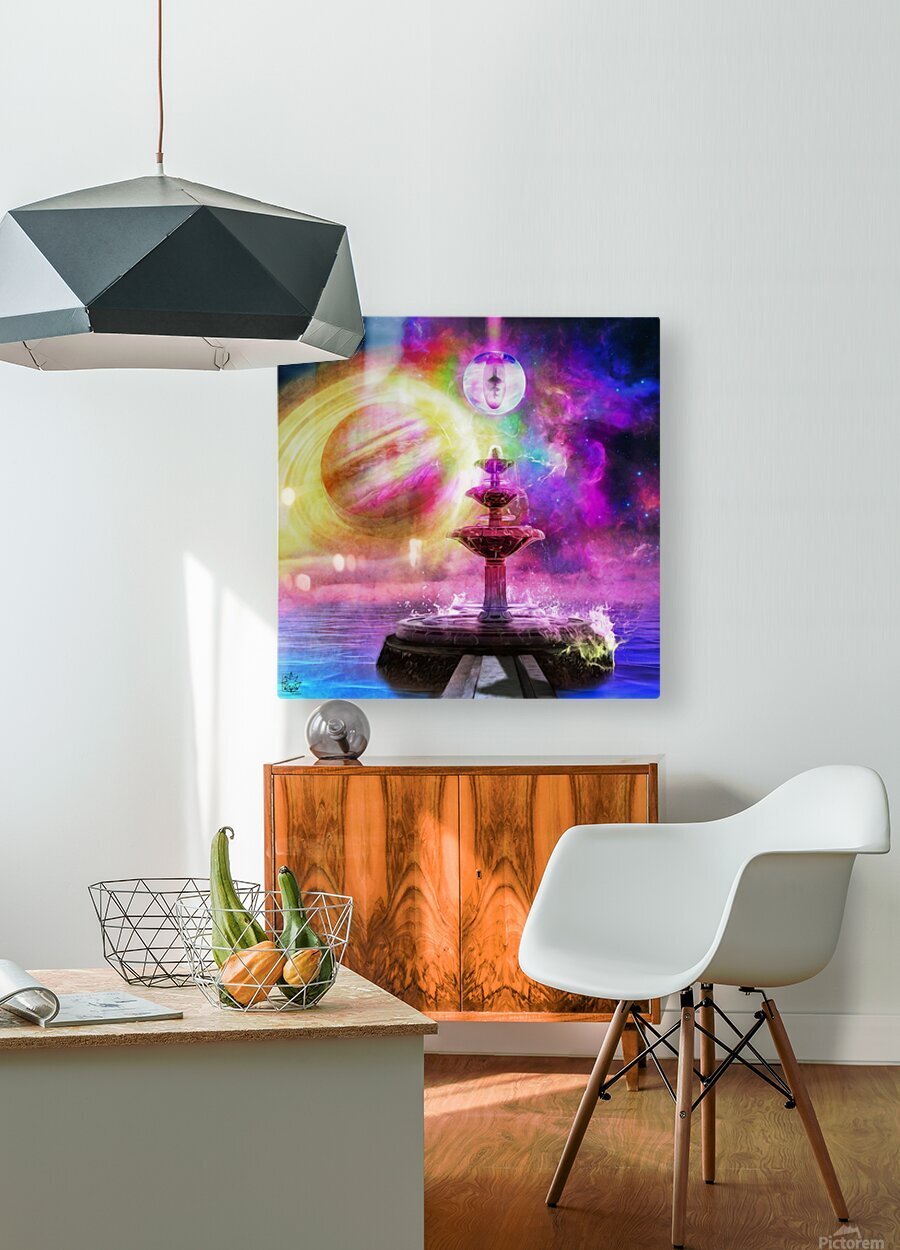 Waterborne  HD Metal print with Floating Frame on Back