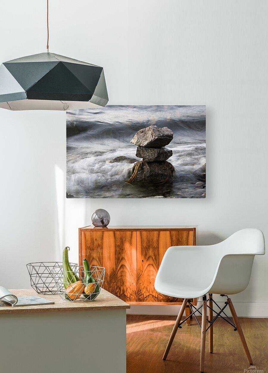 Desktop  HD Metal print with Floating Frame on Back