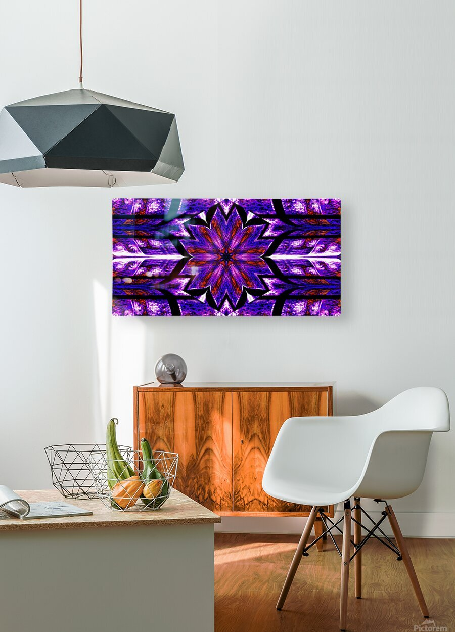 Lotus In Glow 14  HD Metal print with Floating Frame on Back