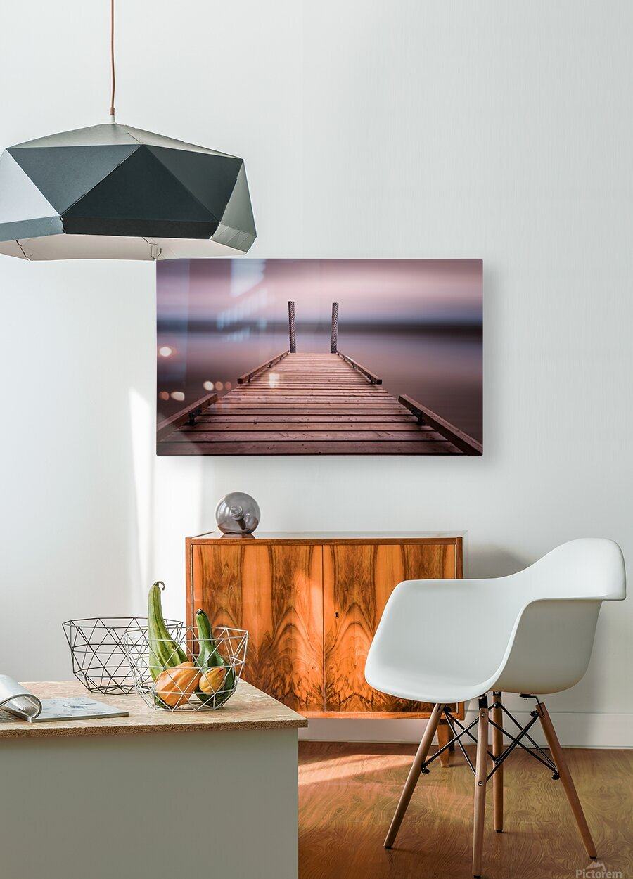 The jetty on Comox Lake  HD Metal print with Floating Frame on Back