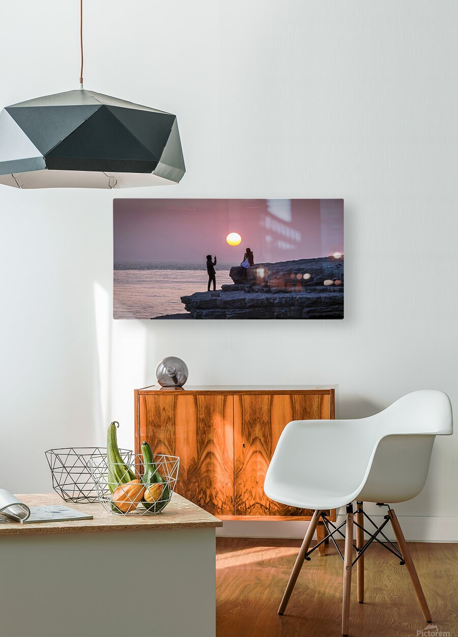 Photo opportunity at Nash Point  HD Metal print with Floating Frame on Back