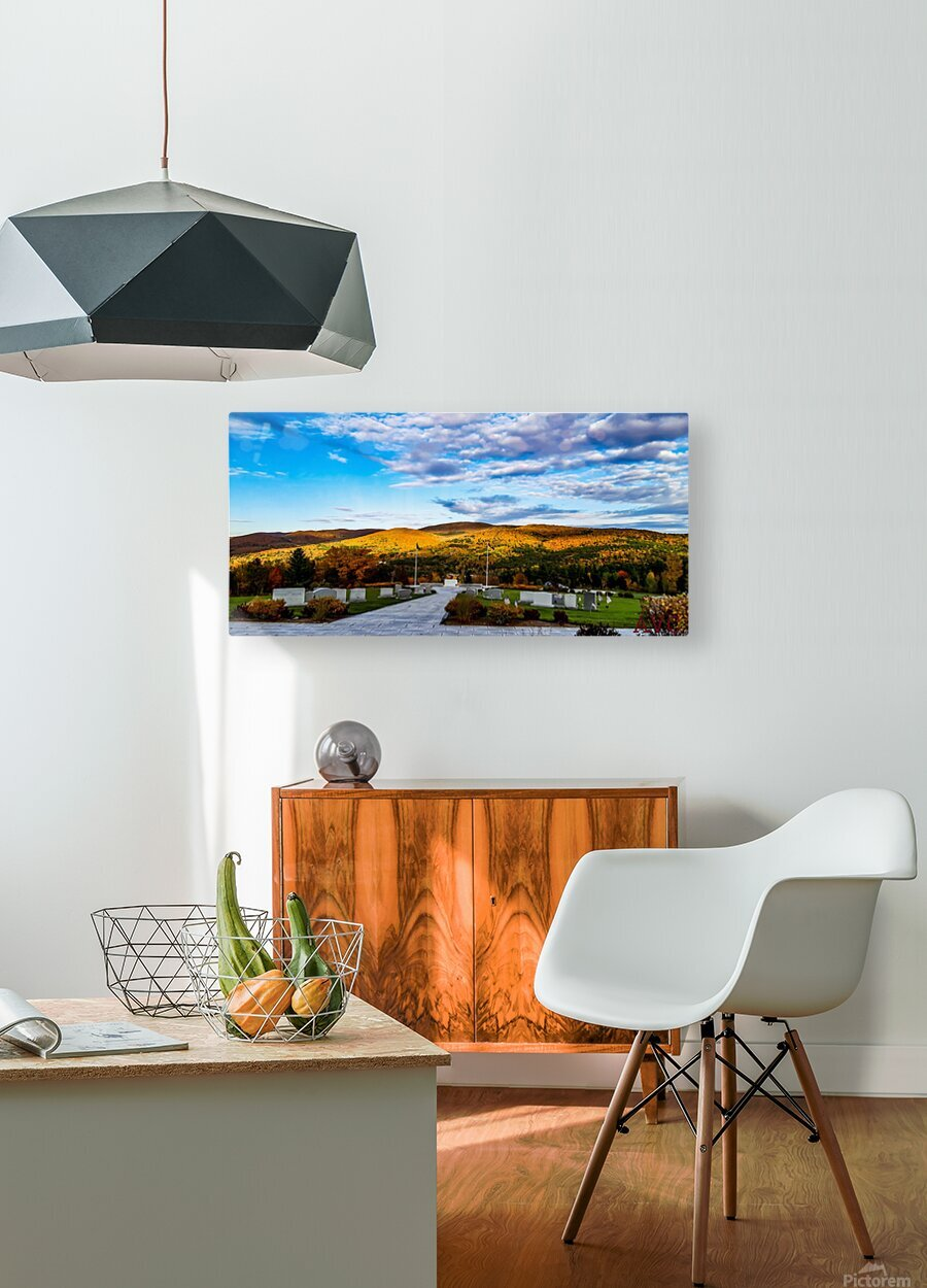 Autumn from the Mountain  HD Metal print with Floating Frame on Back