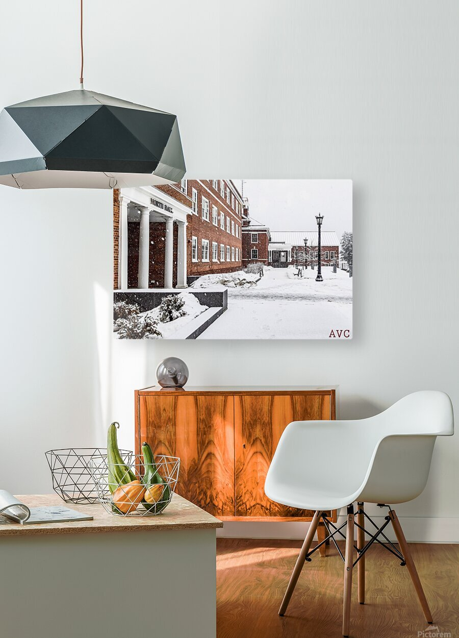 North Hall- Winter  HD Metal print with Floating Frame on Back