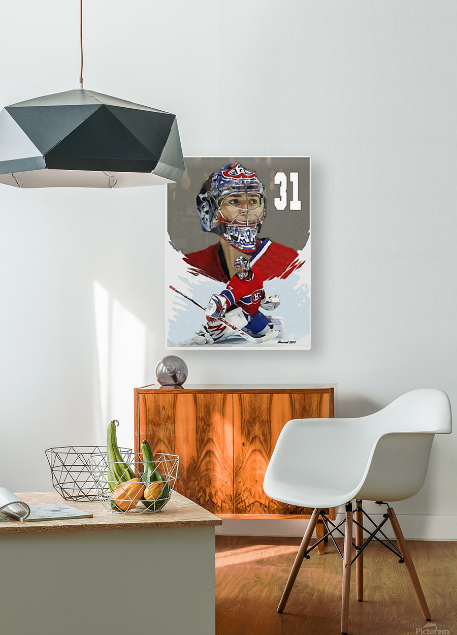 Carey Price portrait  HD Metal print with Floating Frame on Back
