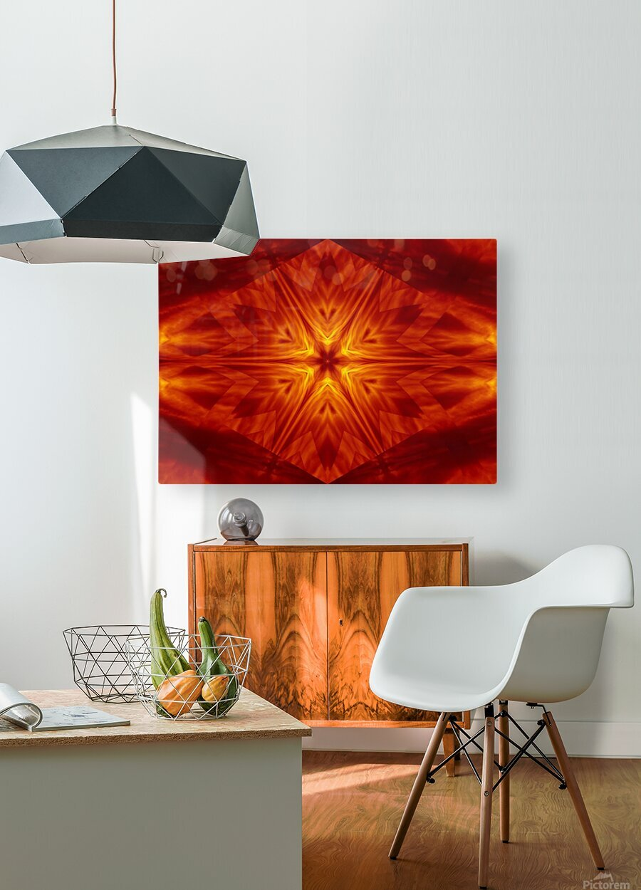 Fire Flowers 1  HD Metal print with Floating Frame on Back