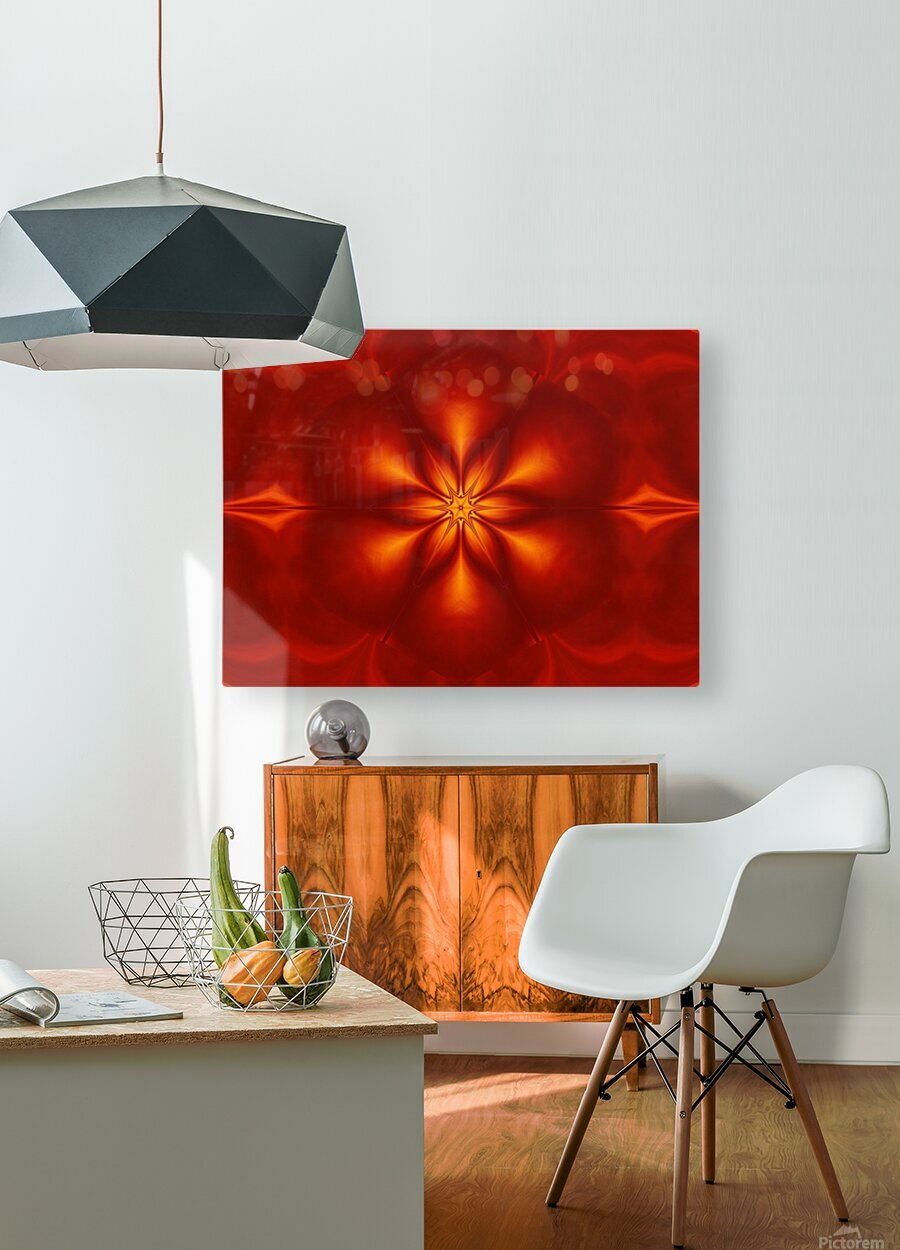 Fire Flowers 10  HD Metal print with Floating Frame on Back
