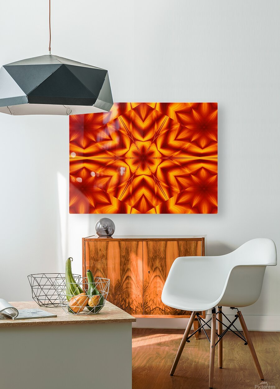Fire Flowers 13  HD Metal print with Floating Frame on Back