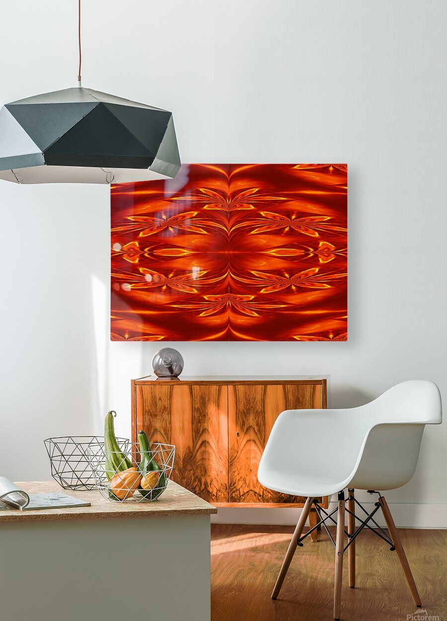 Fire Flowers 21  HD Metal print with Floating Frame on Back