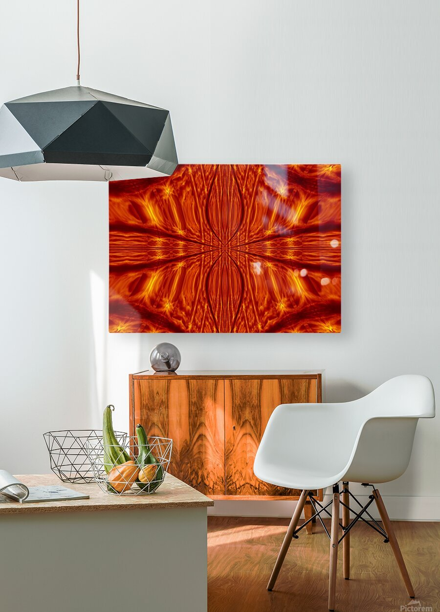 Fire Flowers 55  HD Metal print with Floating Frame on Back