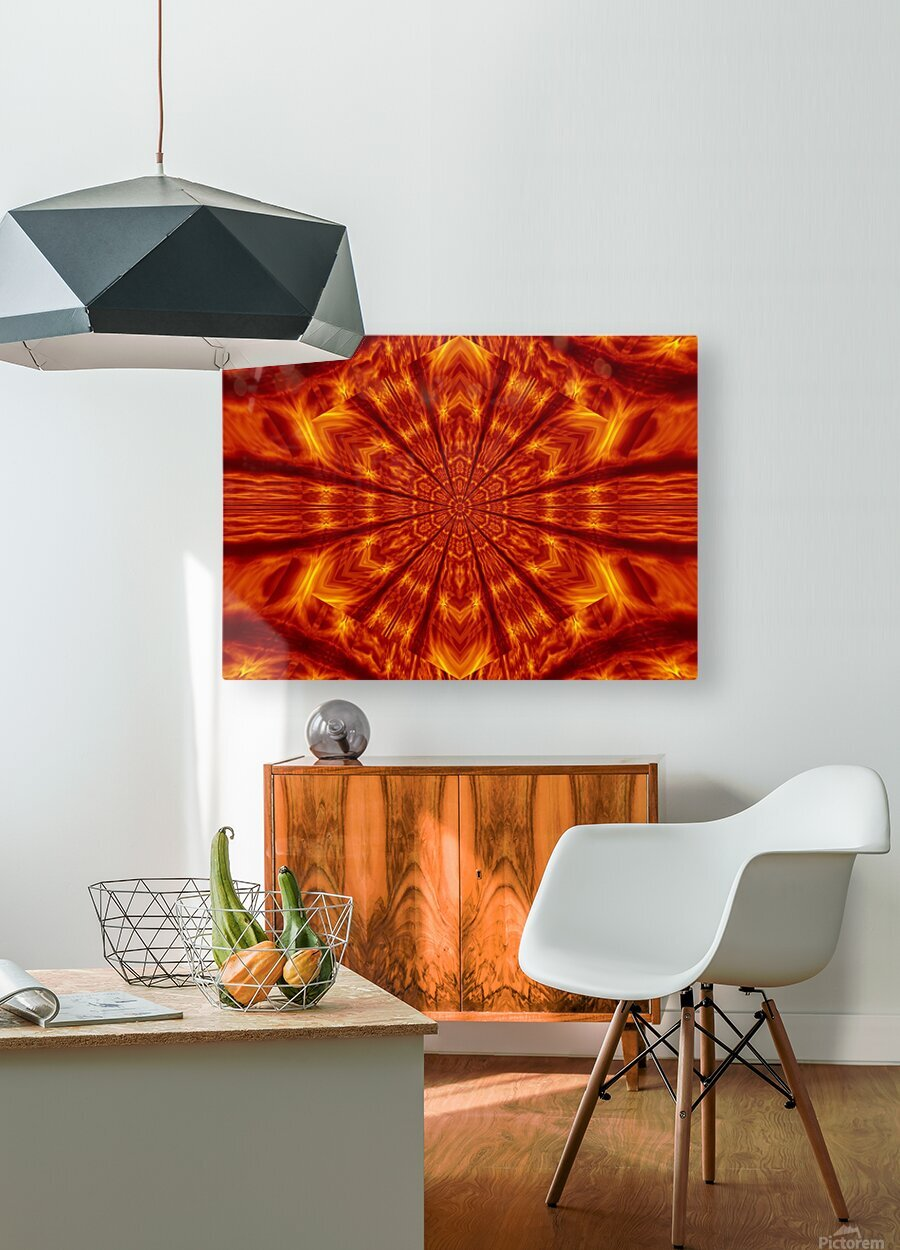 Fire Flowers 56  HD Metal print with Floating Frame on Back