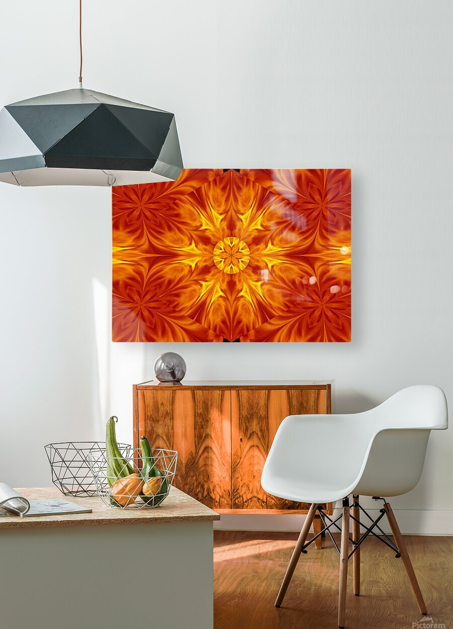Fire Flowers 69  HD Metal print with Floating Frame on Back