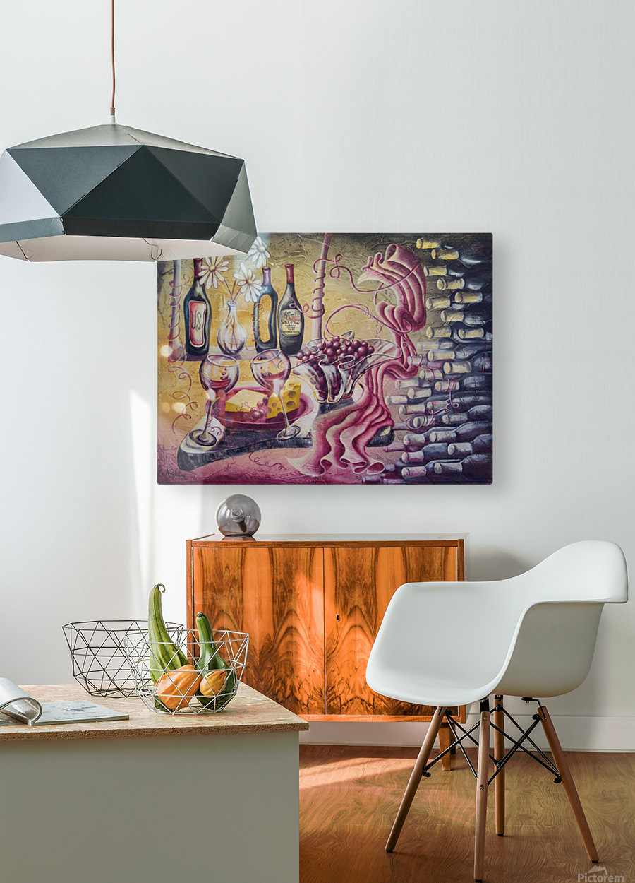 A pile of fun  HD Metal print with Floating Frame on Back