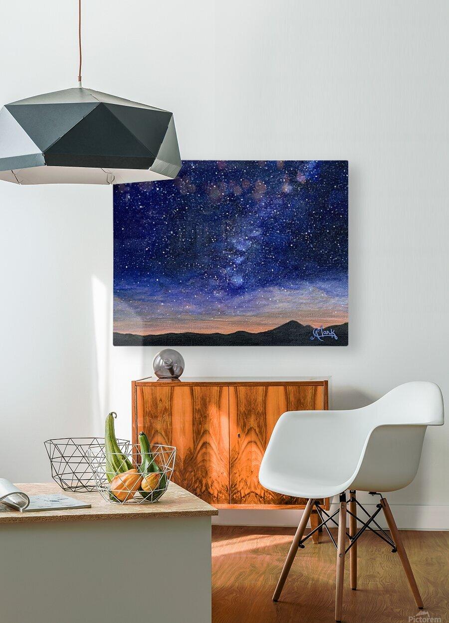 Stargazer  HD Metal print with Floating Frame on Back