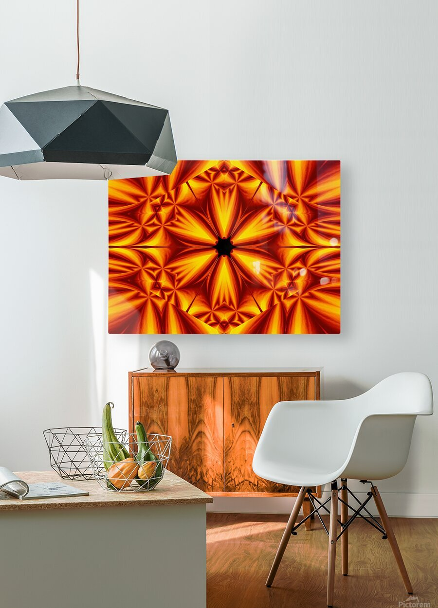 Fire Flowers 103  HD Metal print with Floating Frame on Back