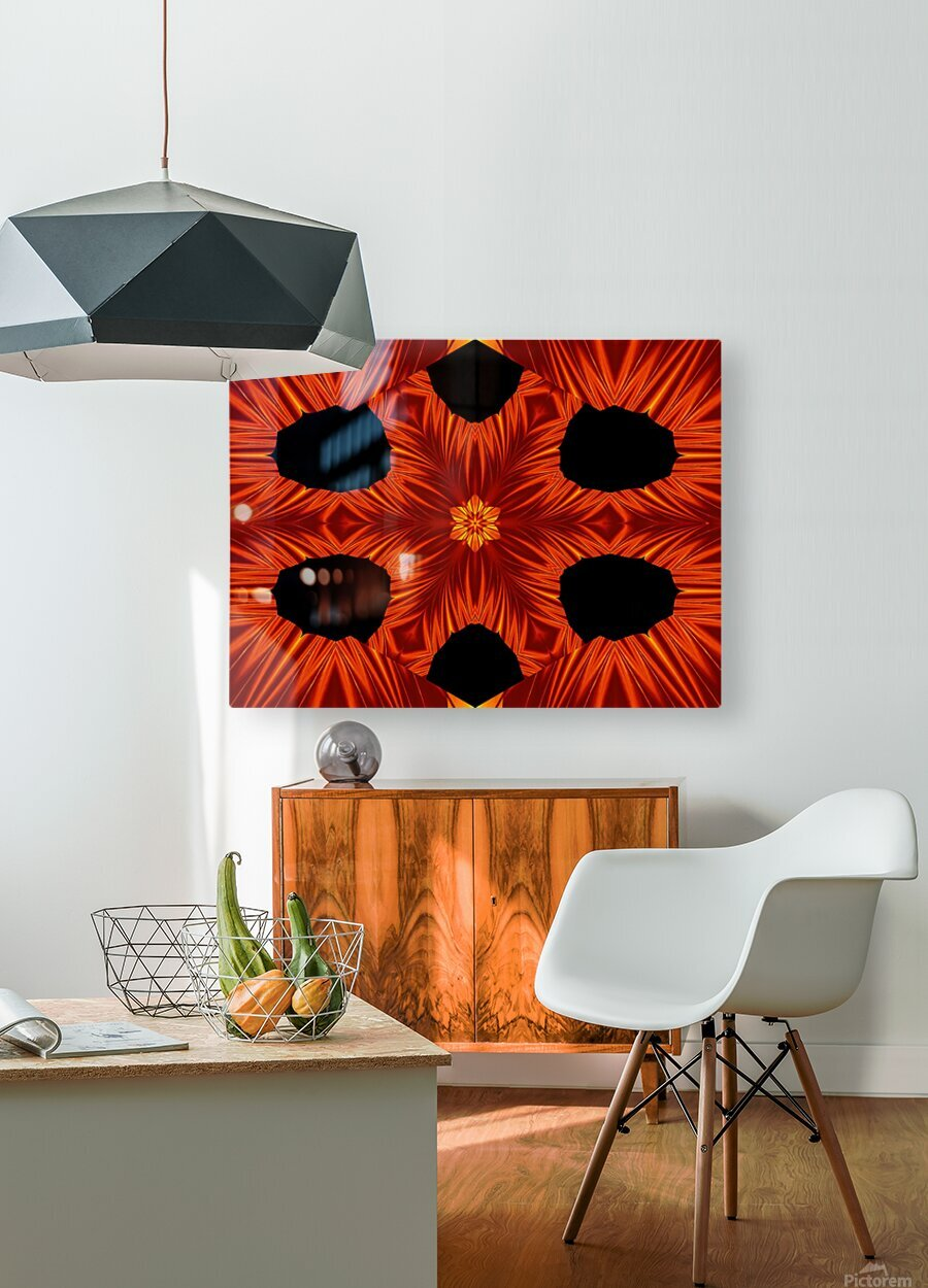 Fire Flowers 105  HD Metal print with Floating Frame on Back