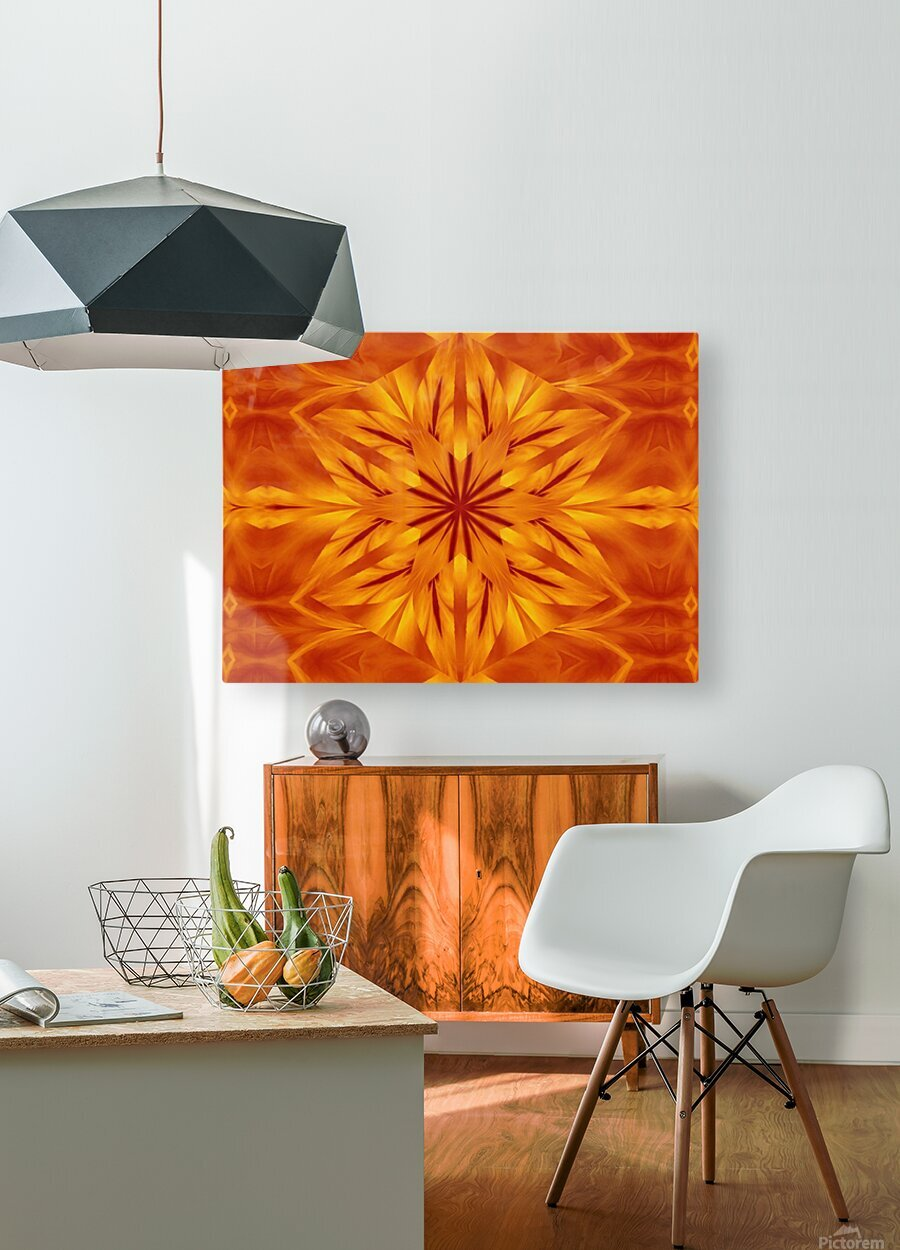 Fire Flowers 118  HD Metal print with Floating Frame on Back