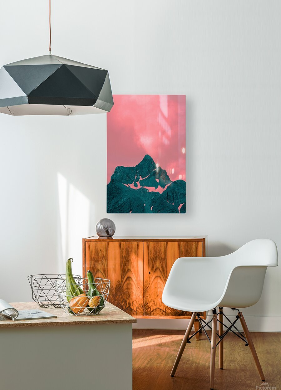 Firn  HD Metal print with Floating Frame on Back