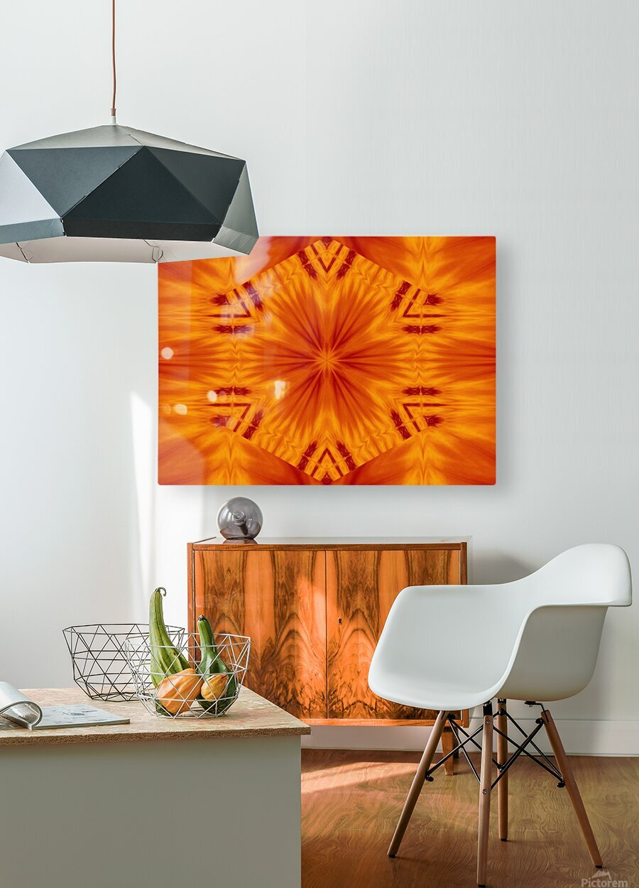 Fire Flowers 121  HD Metal print with Floating Frame on Back