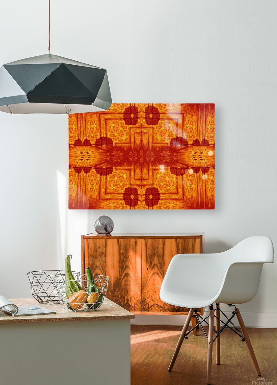 Fire Flowers 158  HD Metal print with Floating Frame on Back