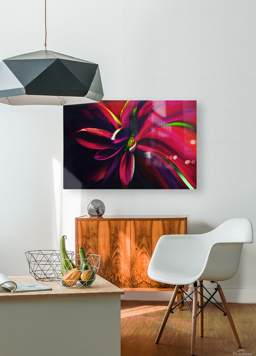 Reaching  HD Metal print with Floating Frame on Back