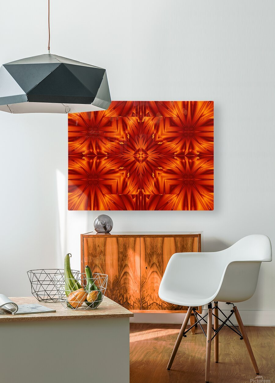 Fire Flowers 191  HD Metal print with Floating Frame on Back