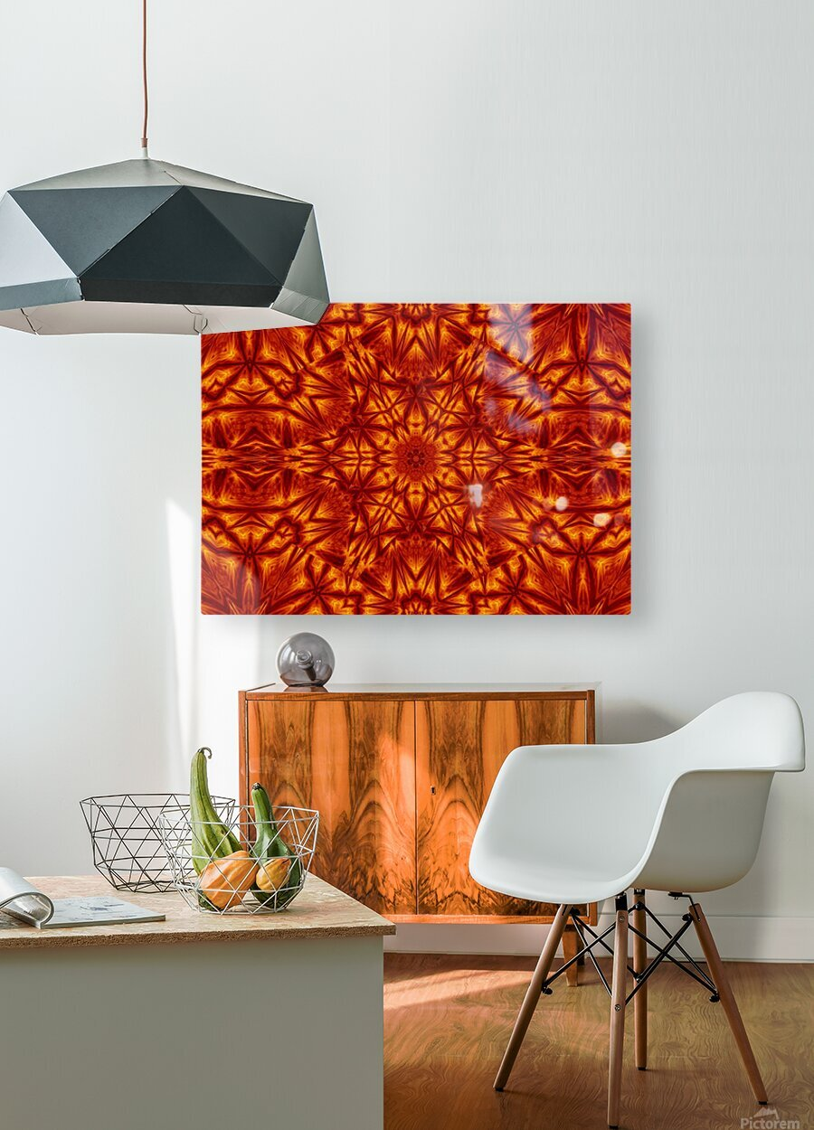Fire Flowers 207  HD Metal print with Floating Frame on Back