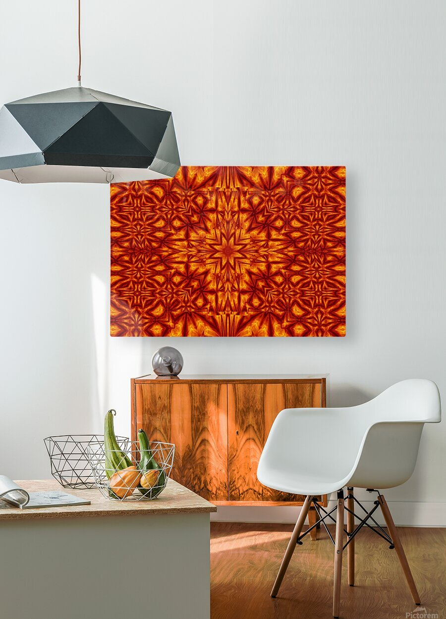 Fire Flowers 210  HD Metal print with Floating Frame on Back