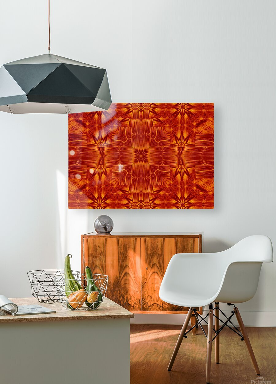Fire Flowers 218  HD Metal print with Floating Frame on Back