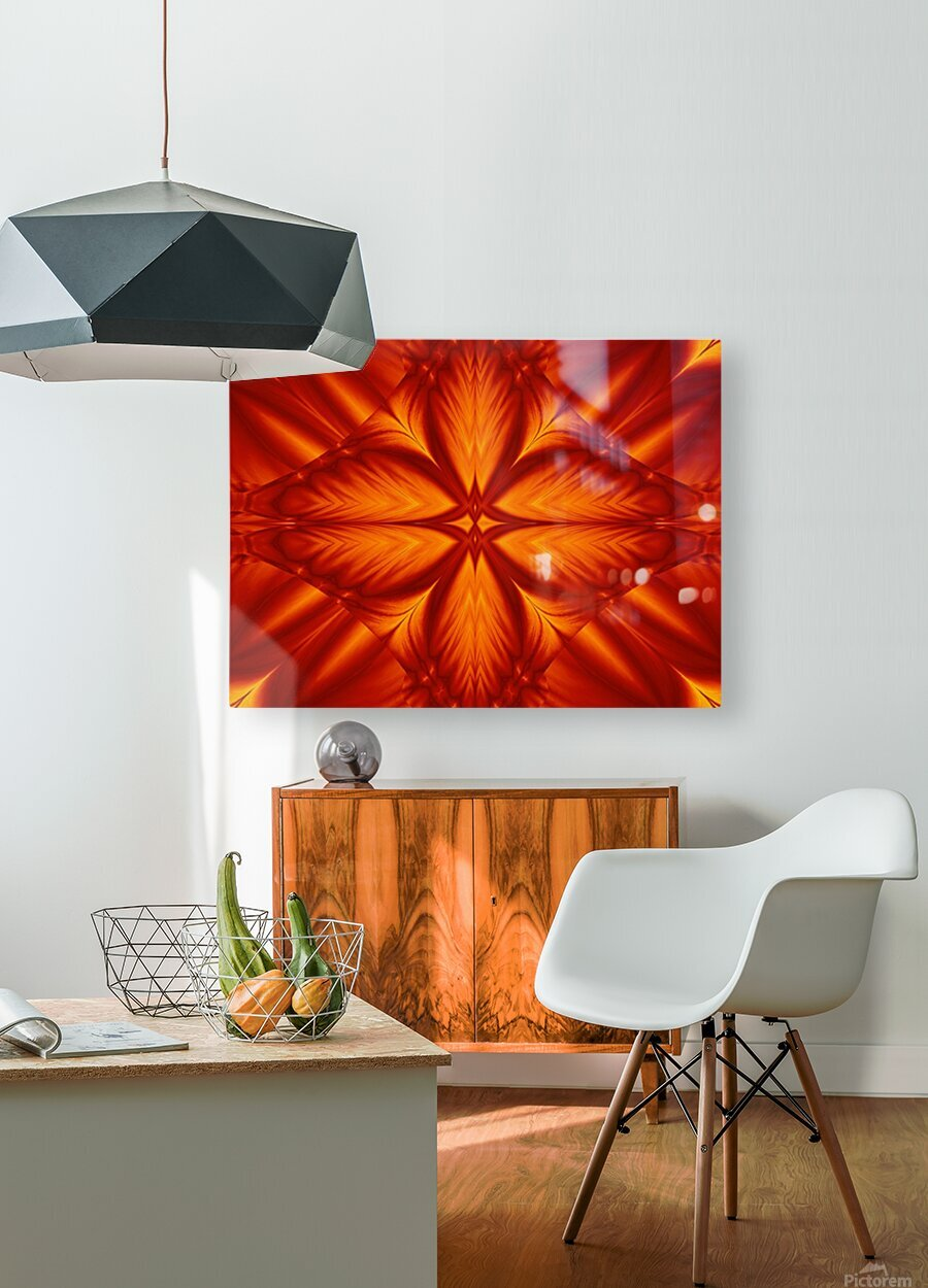 Fire Flowers 248  HD Metal print with Floating Frame on Back