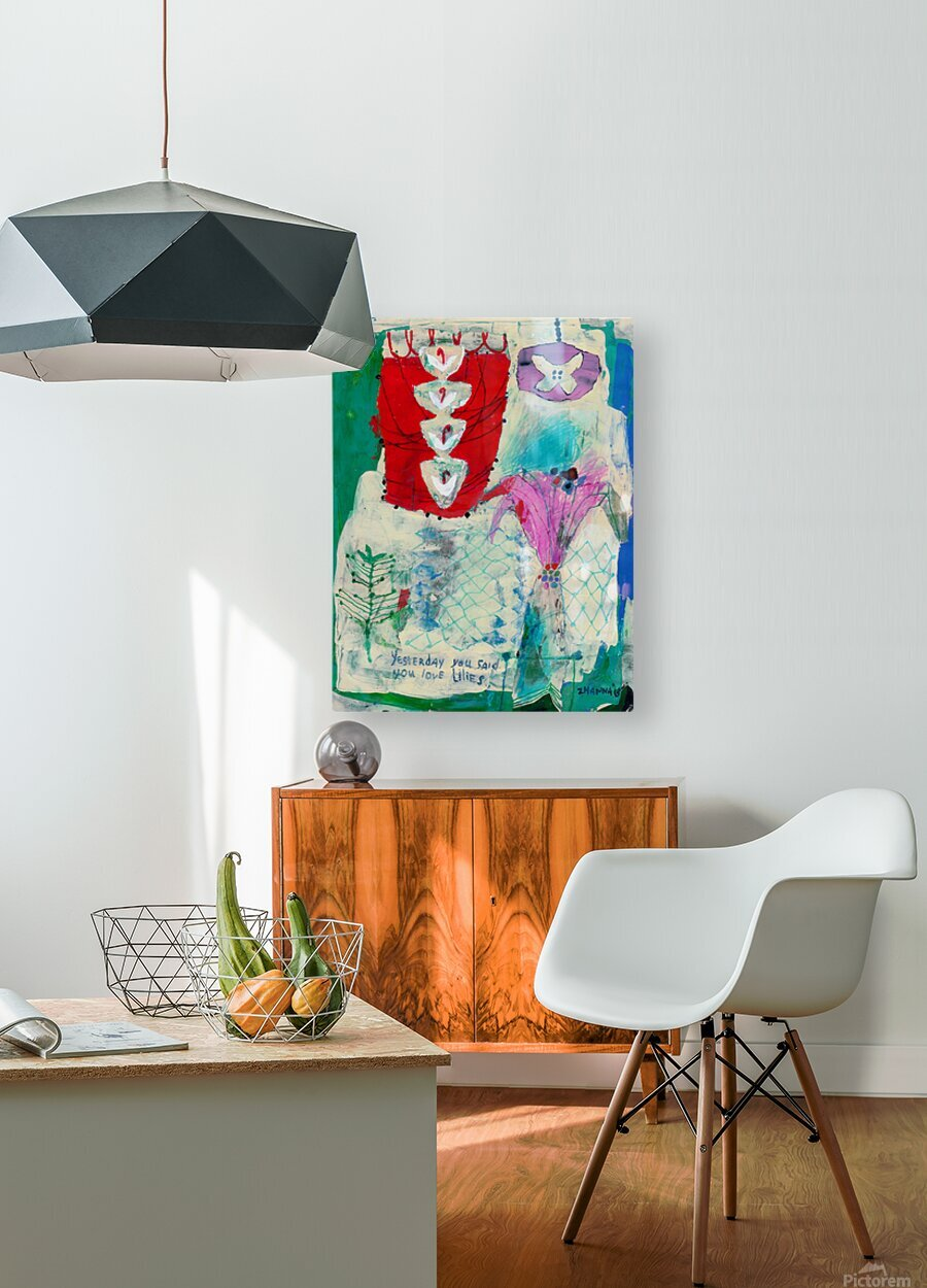 Yesterday You Said You Love Lilies  HD Metal print with Floating Frame on Back