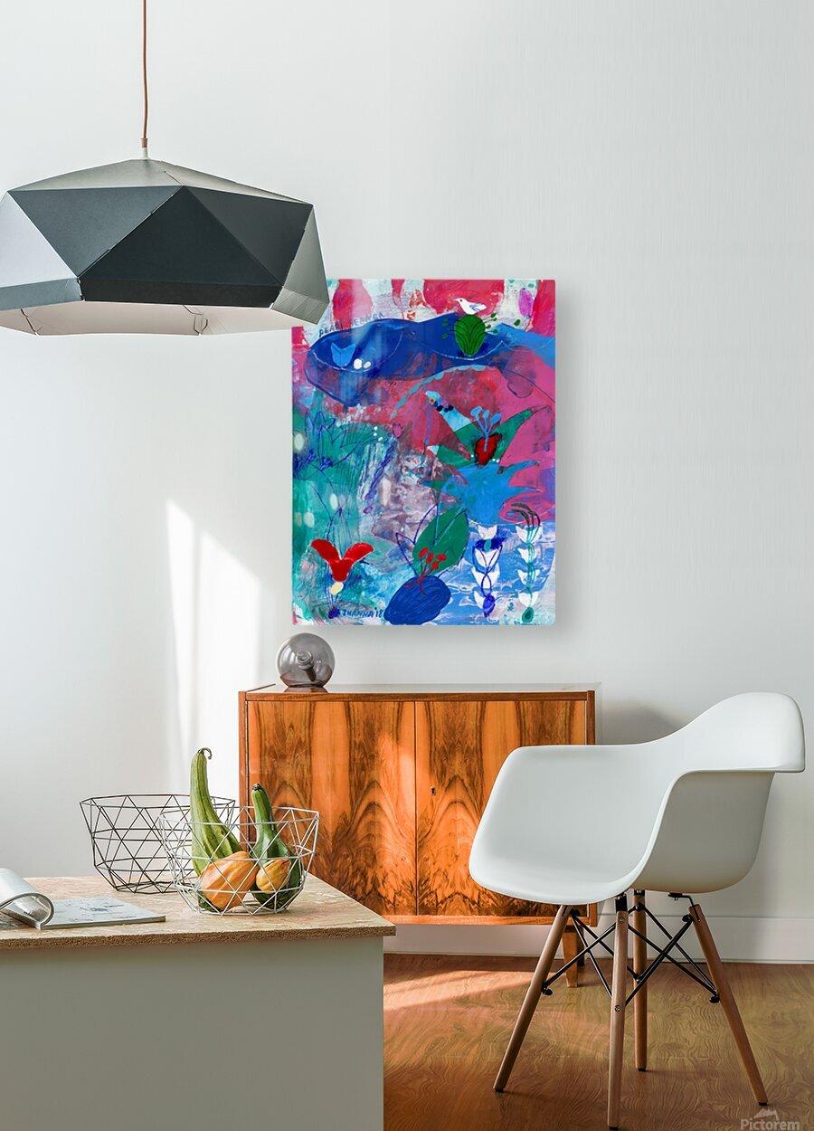 Pearl Seeker  HD Metal print with Floating Frame on Back