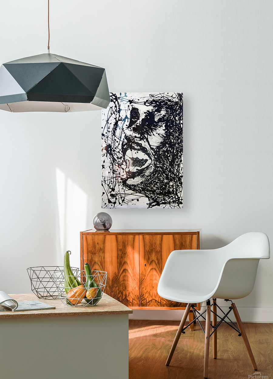 Scream  HD Metal print with Floating Frame on Back